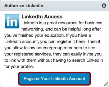 Authorize LinkedIn Access
