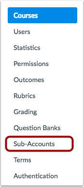 View Courses in Sub-Accounts