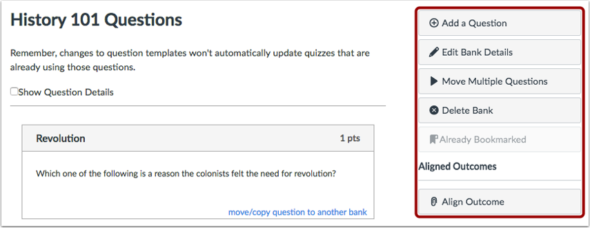 Add Content to Question Bank