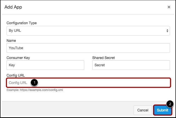Enter Configuration URL