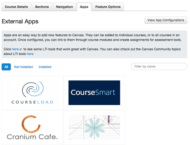 Canvas App Center