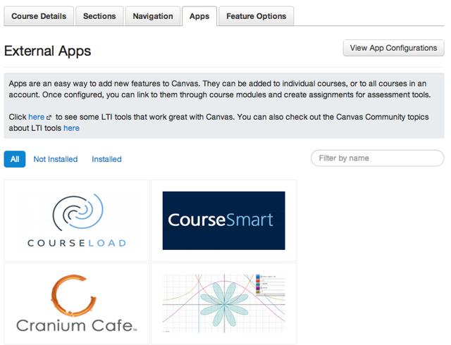 Canvas App Center