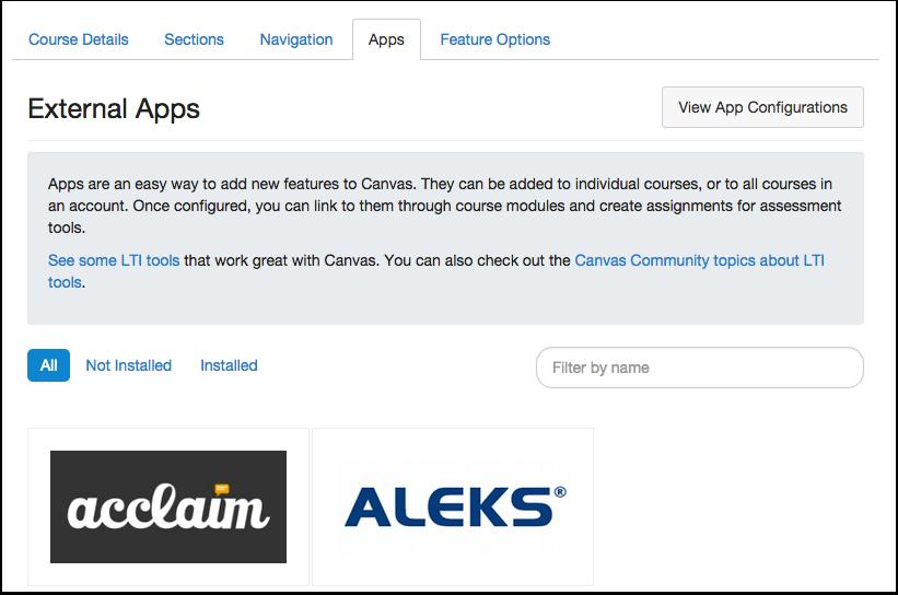 View Canvas App Center