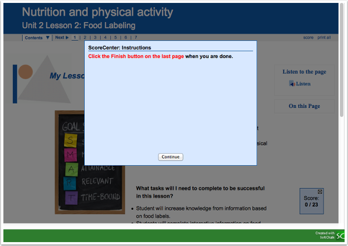 Option 1: View Lesson in Canvas
