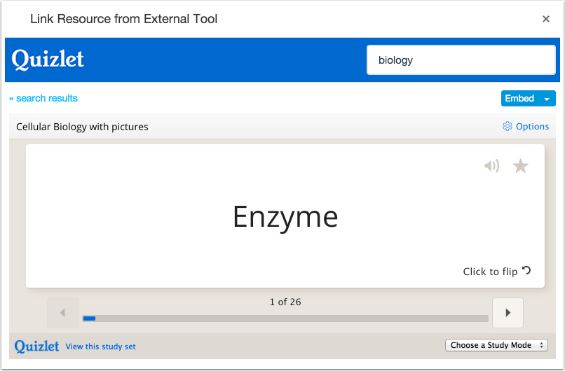 Link to Resource From External Tool