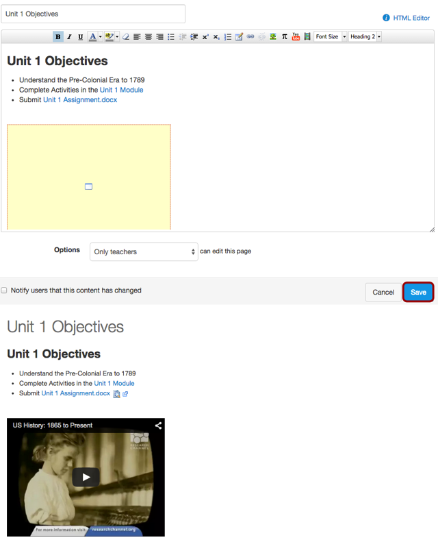 View Embedded Content