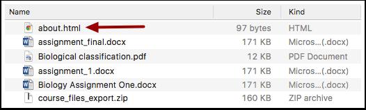 Open HTML File