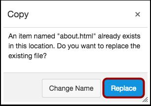 Replace Duplicate HTML File