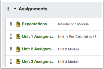 Click Assignment Name