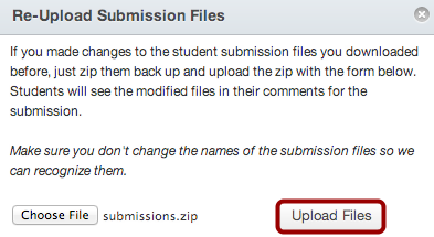 Upload Submission Files