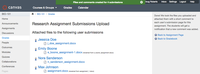 View Uploaded Submissions