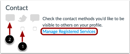 Add Contact Methods