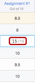 Add Extra Points to an Existing Assignment