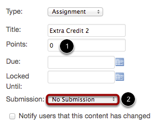 Option 3: Create New Assignment with No Submission