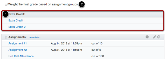 Unweighted Assignment Groups