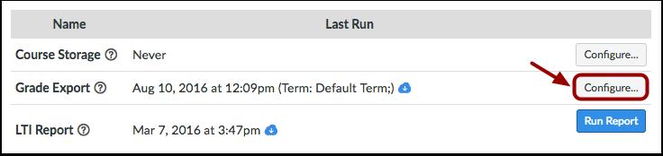 Configure Reports