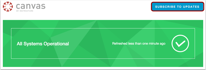 View Canvas Status Page