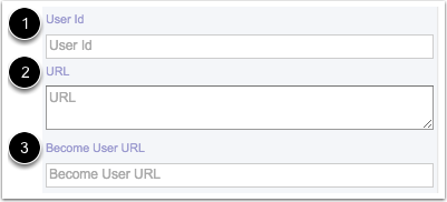 View User ID, URL, and Become User URL