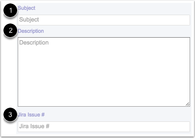 View Subject, Description, and JIRA Issue Number