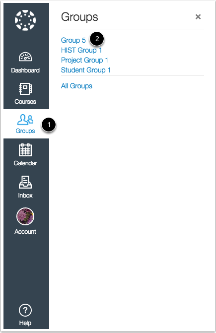 Open Group in New Canvas UI