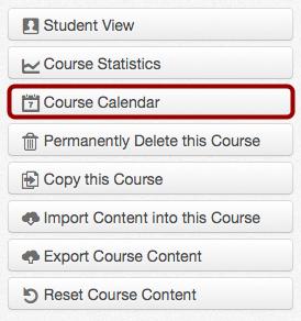 Open Course Calendar