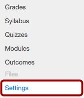 Option 1: Open Course Settings
