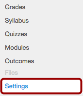 Option 1: Open Course Settings