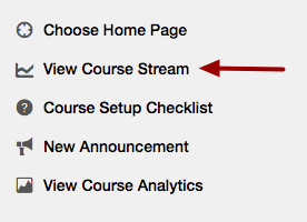 Option 2: View Course Stream