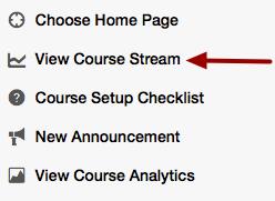 Option 2: View Course Stream
