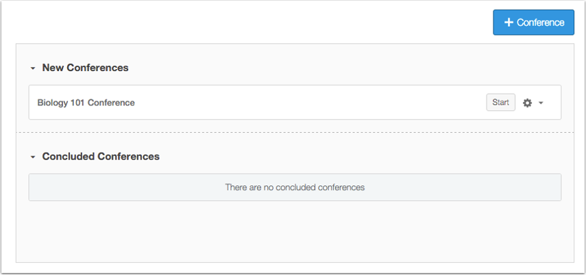 View Conferences Page