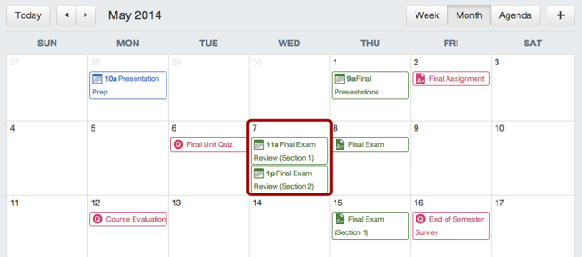 View Calendar Events