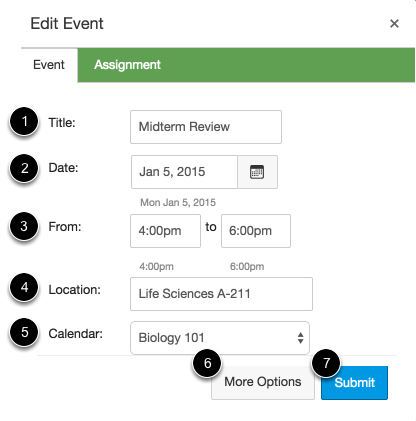 Add New Calendar Event