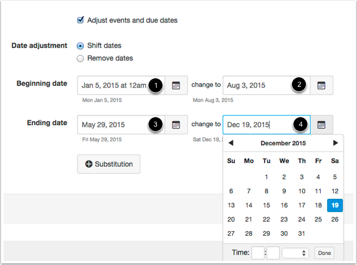 Shift Dates: Adjust Beginning and Ending Dates
