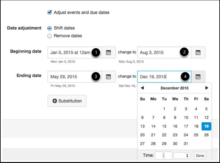 Shift Dates: Adjust Beginning and Ending Dates