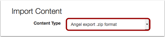 Import Content from Angel