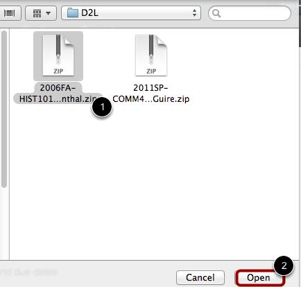 Locate .zip file