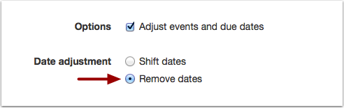 Remove Dates