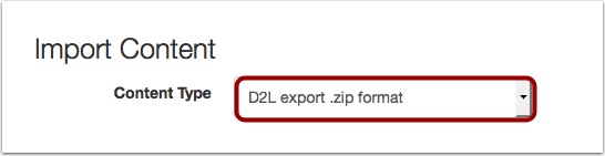 Import Content from D2L