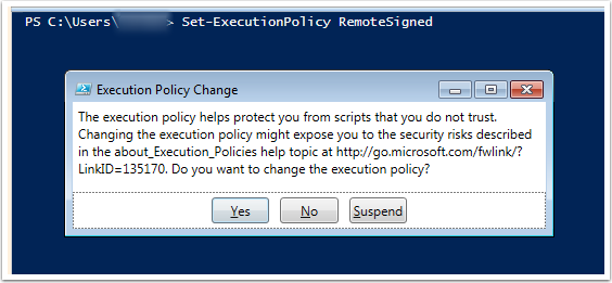 Execute PowerShell Scripts