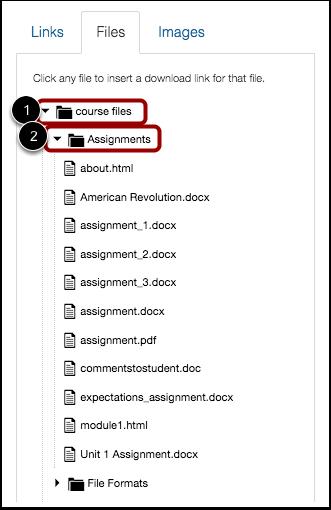 Open Course Files