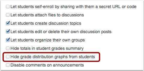 Check Hide Grade Distribution Graphs from Students