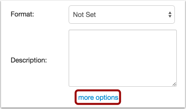 Open More Options
