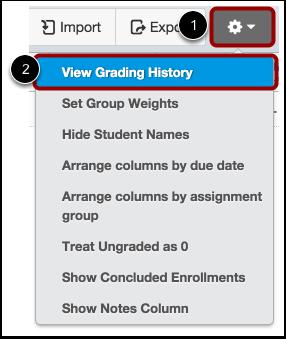 View Grading History