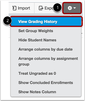 View Grading History