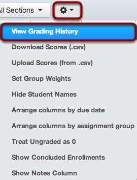 Choose Grading History