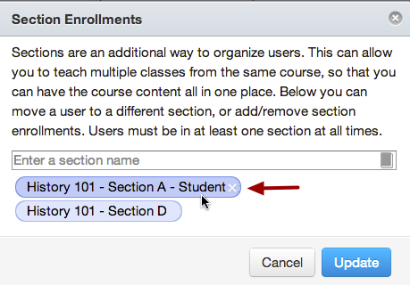 Remove Section Enrollment