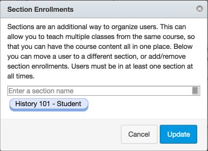 View Section Enrollment