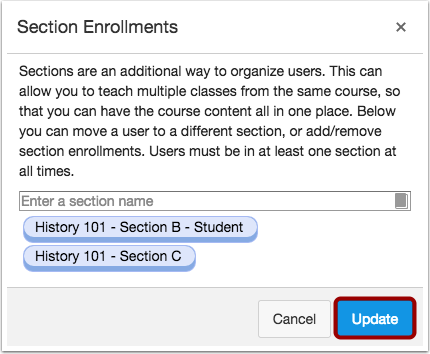 View Updated Enrollment