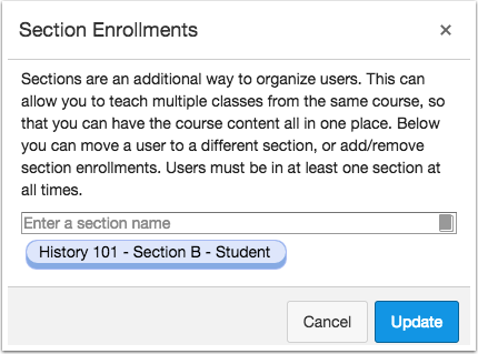 View Section Enrollment