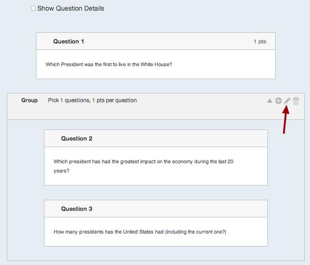 Edit Question Group